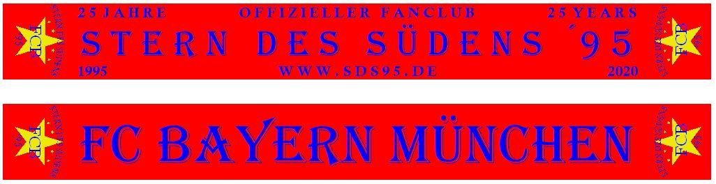 """Neuer Fanclubschal zum Jubiläum – 25 Jahre Fanclub """"Stern des Südens ´95"""""""